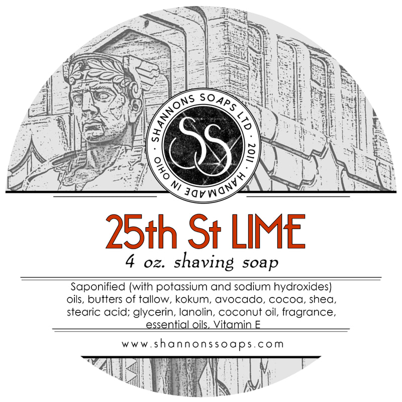 25th Street Lime Artisan Shaving Soap