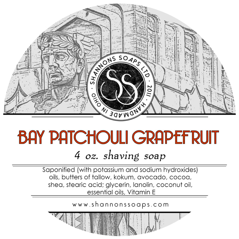 Bay Patchouli Grapefruit Tallow Shaving Soap